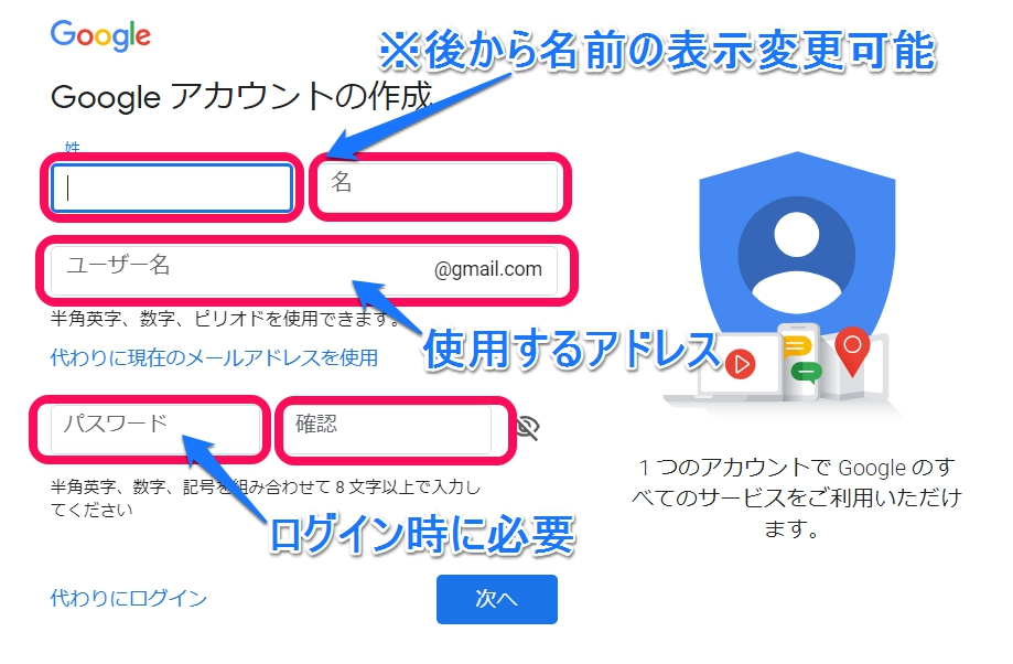 Gmail取得方法画像3